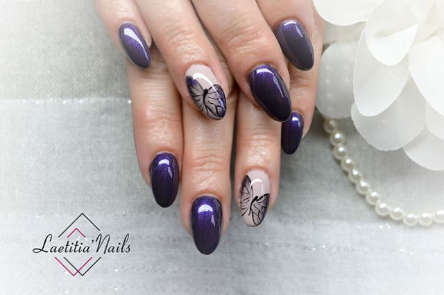 Laetitia' Nails - Night butterfly